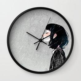 Raining Wall Clock