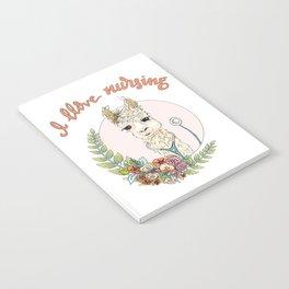 I Llove Nursing Llama Notebook