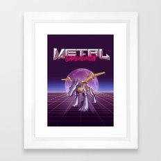 Metal Wolf Claw Framed Art Print