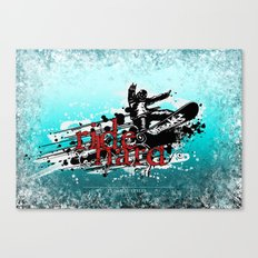 ride hard - snow Canvas Print