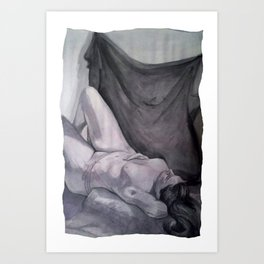 Recline Art Print