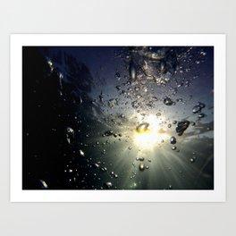 Bubbles in the sun Art Print