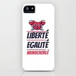 Liberte Egalite Weinschorlé Weinliebhaber Geschenk iPhone Case