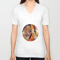 anime V-neck T-shirts featuring Anime 2 by Del Vecchio Art by Aureo Del Vecchio