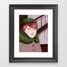 My lady Framed Art Print