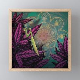 Praying Mantis Framed Mini Art Print