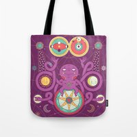 cosmos Tote Bags featuring Cosmos by Martin Orza