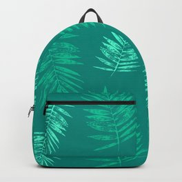 Palm leaves Green Backpack
