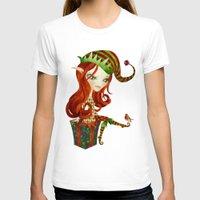 elf T-shirts featuring Elfie Elf by Sandra Vargas