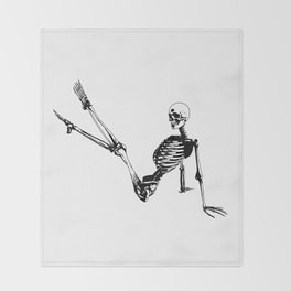 Skeleton Breakdance Throw Blanket