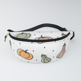 cute colorful pumpkins pattern background illustration Fanny Pack
