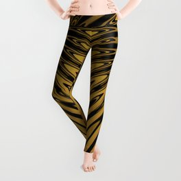 Gold Knight Medieval Geometric Pattern Leggings
