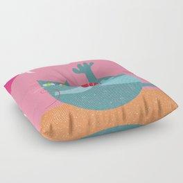 happy cat Floor Pillow