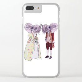 Madame and Monsieur Elephant Clear iPhone Case