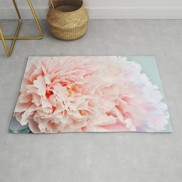 Peony Flower Photography, Pink Peony Floral Art Print Nursery Decor A Happy Life  - Peonies 1 Rug
