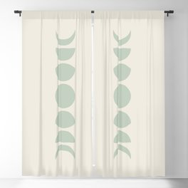 Minimal Moon Phases - White Sage Blackout Curtain