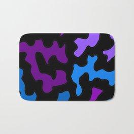 Purple Blue Abstract Blotch Shape Design Bath Mat