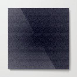 Blue/blackrectangles Metal Print