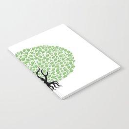 Green Tree Burst Notebook