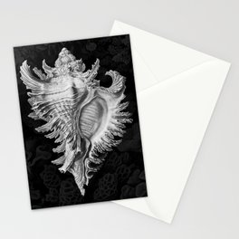 Murex2 (Black & White, Square) Stationery Cards