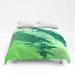 Green Smear Comforters