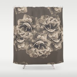 Sepia Peony Flower Bouquet #1 #floral #decor #art #society6 Shower Curtain