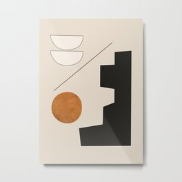 Abstract Minimal Shapes 156 Metal Print
