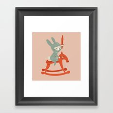 Rabbit Knight Framed Art Print
