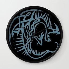 Celtic Knotwork Deadly Nadder (Blue) Wall Clock