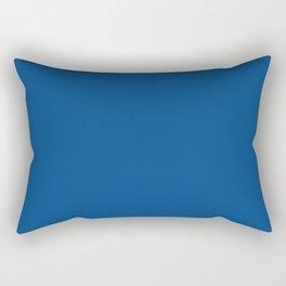 Pug Ride ~ Dodger Blue Coordinating Solid Rectangular Pillow
