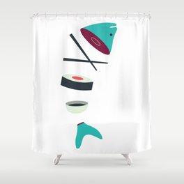 Sushi Fish Shower Curtain