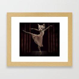 Ze Cat Bellarina Framed Art Print