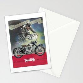 Vintage British Norton Motorcycle Poster Stationery Cards