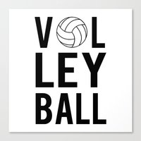 volleyball Canvas Prints featuring Volleyball (black) by raineon