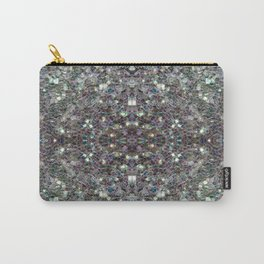 Sparkly colourful silver mosaic mandala Carry-All Pouch