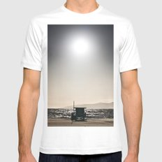 Venice Beach California Guard Tower Mens Fitted Tee White SMALL
