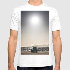Venice Beach California Guard Tower MEDIUM Mens Fitted Tee White