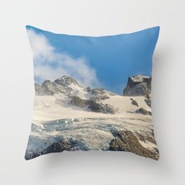 Snowy Andes Mountains, Patagonia - Argentina Throw Pillow