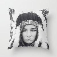 navajo Throw Pillows featuring Navajo by Jamie de Leeuw