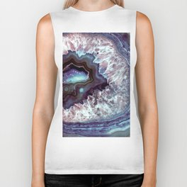 Ocean Blues Quartz Crystal Biker Tank
