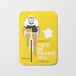 My TOUR DE FRANCE Minimal Poster Bath Mat