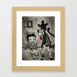 BETTY AND THE WOLF Framed Art Print