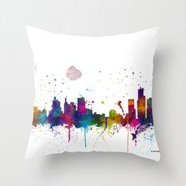 Bostonian Skyline MCLR 1 Throw Pillow