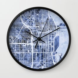 Chicago City Street Map Wall Clock