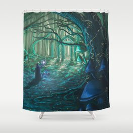 Old One Returning Shower Curtain