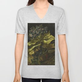 Cineraria by Vincent van Gogh Unisex V-Neck