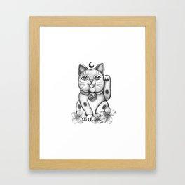 Maneki Neko  Cat Framed Art Print