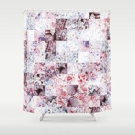 Lavender blush Watercolour Rain Pattern Shower Curtain