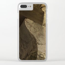 Structural element of ancient greece architecture. (natural version) Clear iPhone Case