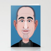 seinfeld Stationery Cards featuring Comics of Comedy: Jerry Seinfeld by XK9 Works
